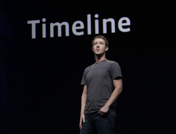 Facebook CEO Mark Zuckerberg talks about Timeline during the f/8 conference in San Francisco on Thursday, Sept. 22, 2011. Facebook is dramatically redesigning its users' profile pages to create what CEO Mark Zuckerberg says is a &quotnew way to express who you are.&quot