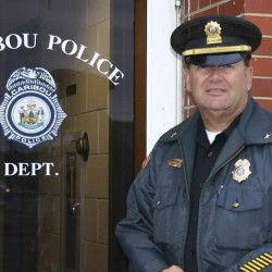 Caribou police chief honored for 40 years of service to the city