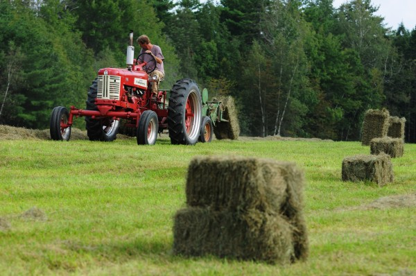 """My equipment and I were both made in the '50s. It's a good match because we all move at the same speed,"" said Jeff Kelman on Monday, Sept. 12, 2011. Kelman has taken two of his 1950-era Farmall tractors and completely rebuilt them to working condition."