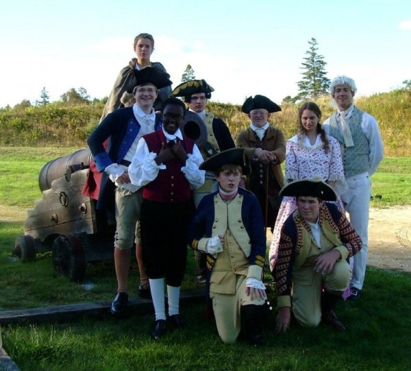 "Actors from ""The Hessian Officer in America,"" an entertaining play from 1783 with Maine ties."
