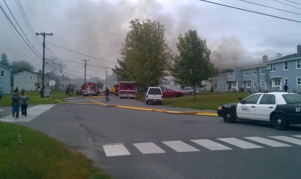 Officials respond to a Bangor fire on Tuesday, Sept. 20, 2011.