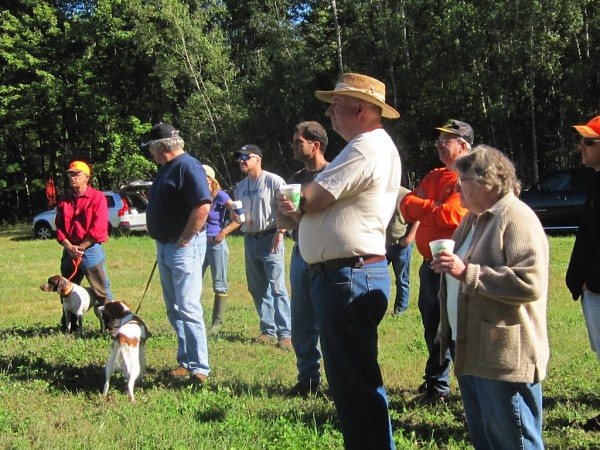 Approximately 35 people attended the Central Maine Brittany Club's fall Pointing Dog Training Day on Saturday, Sept. 10, at Brownfield Game Management Area near Fryeburg, also known as Maine Bird Dog Club Trial Grounds.
