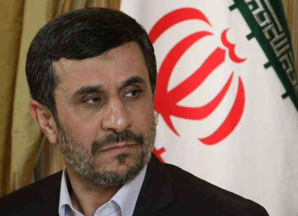 Mahmoud Ahmadinejad, President of the Islamic Republic of Iran, listens during an interview with the Associated Press on Thursday, Sept. 22, 201, in New York.