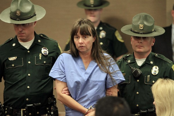 Julianne McCrery, 42, of Irving, Texas,  arrives in District Court Thursday, May 19, 2011 in Portsmouth, N.H.  McCrery was charged with killing her 6-year-old son.