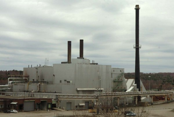 The East Millinocket paper mill is seen in May.