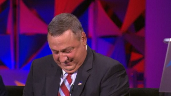 Maine Gov. Paul LePage during an education summit with NBC's Brian Williams.