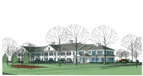 A rendering of the proposed Leonard Lake senior housing center in Ellsworth.