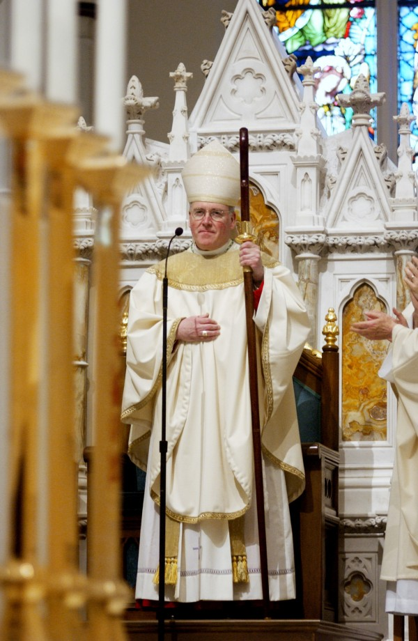 Bishop Richard J. Malone is installed as the 11th Bishop of Portland at the Cathedral of the Immaculate Conception in Portland in 2004.
