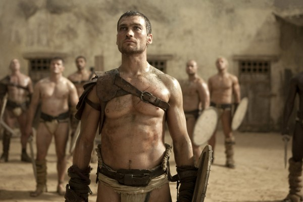 In this undated file TV publicity image released by Starz, Andy Whitfield portrays Spartacus in the Starz  series Spartacus: Blood and Sand. Whitfield died of non-Hodgkins Lymphoma in Australia Sunday, Sept. 11, 2011.