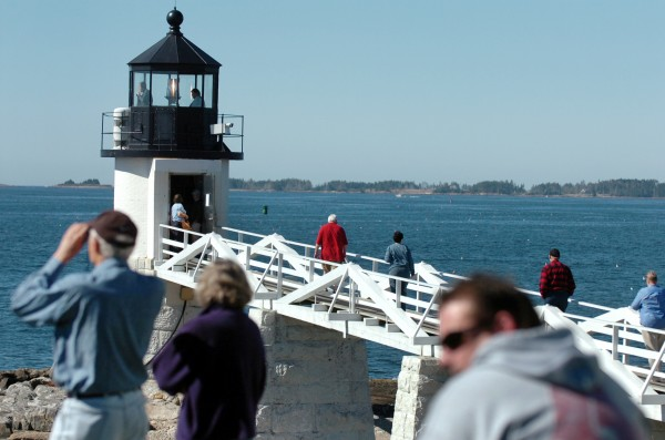 Maine residents and tourists alike were able to visit and tour the inside of more than two dozen lighthouses including Marshall Point Lighthouse and Museum in St. George as seen here Saturday morning, Sept. 18, 2010 as part of the second annual Maine Open Lighthouse Day. The light station dates back to 1831 and was last operated by a lightkeeper in 1971 when it was automated. The lighthouse now belongs to the Town of St. George while the Coast Guard is in charge of operating the light and fog horn.