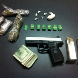 Police seized a half-ounce of crack, 61 bags of heroin, $1,600 in cash and a small amount of marijuana.