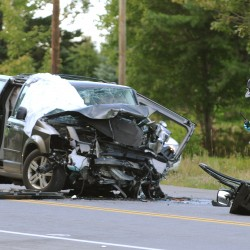 Two hospitalized after three-car accident on Route 9 in Brewer