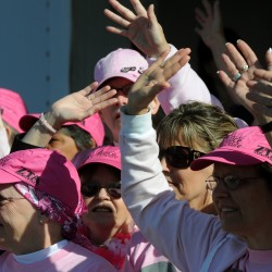 What it means to have 4,000 people join together in a sea of pink
