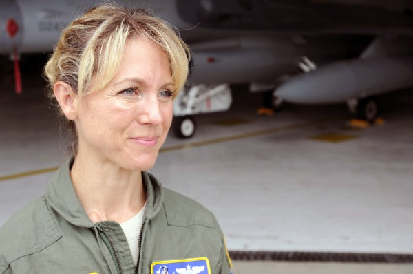Maj. Heather &quotLucky&quot Penney, one of the first two combat pilots in the air on Sept. 11.