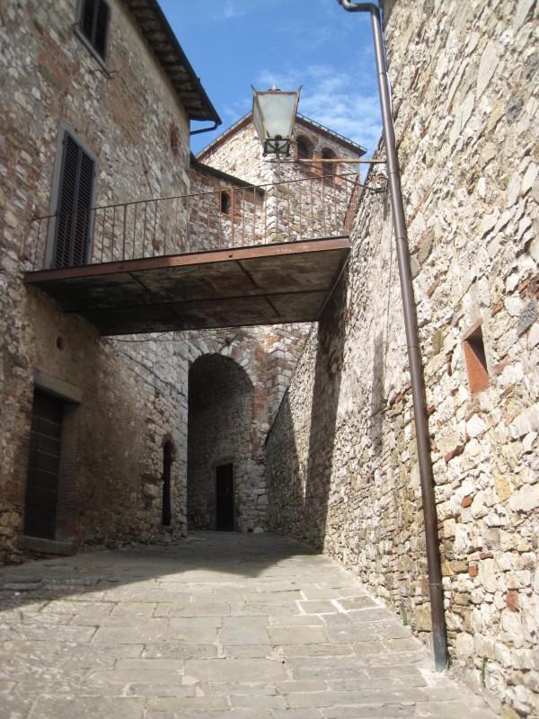 Street scene in Radda, Italy.