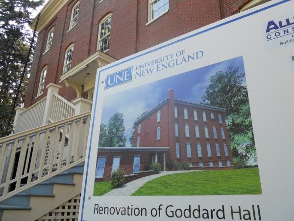 Goddard Hall, built in 1857, is being renovated to serve as faculty and administrative office space for the University of New England's new College of Dental Medicine. In addition to offices, the building will include a lecture hall and student lounge space.
