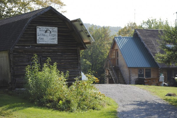 Little Lyford Pond Camps, an Appalachian Mountain Club facility, is located in the deep Maine woods located between Greenville and Millinocket near the Appalachian Trail in the &quothundred mile wilderness&quot BRAD VILES PHOTO