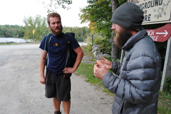 """Turn Around"" describes his summit day on Katahdin to Brian ""Calculator"" Snyder. ""Turn Around"" finished his thru-hike two days earlier. ""Calculator"" was finishing his own the next day."
