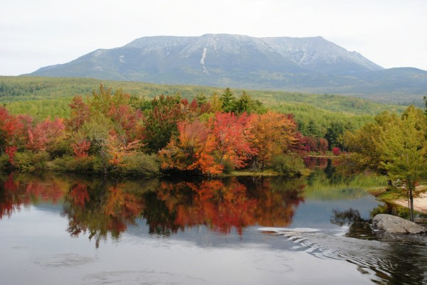 Mount Katahdin is the northern terminus of the Appalachian Trail from Springer Mountain, Georgia. When long-distance thru-hikers see this view from Abol Bridge on the Golden Road, they know that with only one more overnight, they'll reach the end of their journey.