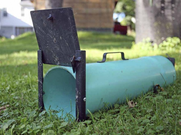 This skunk trap has been Houlton Animal Control Officer Kevin Upton's best friend this summer as the town has experienced numerous reports of the animals destroying lawns. He has caught more than 25 skunks within town limits this summer and has a waiting list of yards to tackle.
