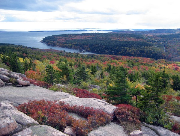 View from Gorham Mountain in Acadia National Park.