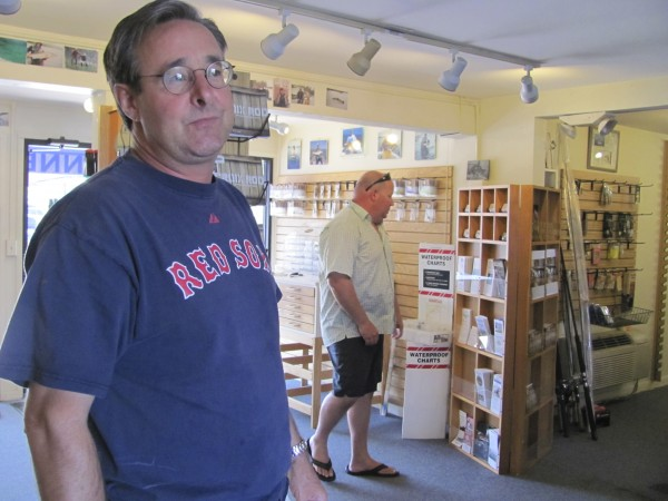 Kennebec Angler bait and tackle shop owner Chris Grill discusses 13 years in business on the shore of the Kennebec River in downtown Bath. Grill said on Tuesday, September 13, 2011, that he is liquidating his stock and closing the store down at the end of September.