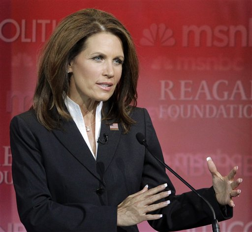 Republican presidential candidate Rep. Michele Bachmann, R-Minn., answers a question Sept. 7 during a Republican presidential candidate debate at the Reagan Library, in Simi Valley, Calif.