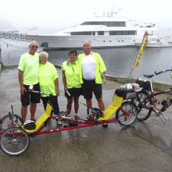 70-year-old bicyclists start 1,900-mile 'Victory Tour' in Calais