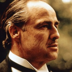 "Marlon Brando in ""The Godfather"""