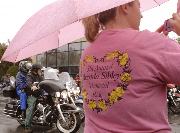 Angela Madden takes a snapshot of the riders gathered for the Brenda Sibley Memorial Ride for cancer awareness Saturday, Sept. 24, 2011, in Old Town. The riders raised money for the Lafayette Family Cancer Center as part of Eastern Maine Charities and CancerCare of Maine.