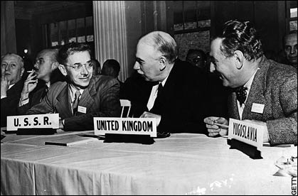 The Bretton Woods conference in New Hampshire, 1944.