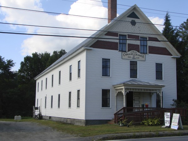 The Canaan Grange Hall.