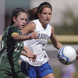 White, Firestone pace Ellsworth to soccer win over Hermon girls