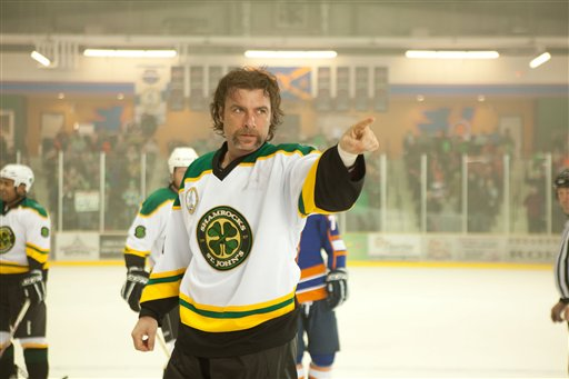 "In this film image released by Toronto International Film Festival, Liev Schreiber is shown in a scene is from the hockey film ""Goon."" The film is being presented at the Toronto International Film Festival, running through Sept. 18."