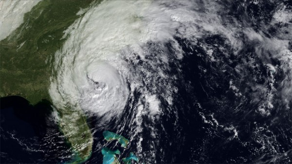 Hurricane Irene, as it begins its way up the East Coast.
