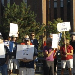 Public, politicians, union members rally in Bangor for U.S. Postal Service