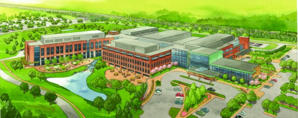 An artist's rendering of the new $322 million MaineGeneral hospital.