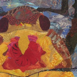 Attend a textile painting exhibit and workshop