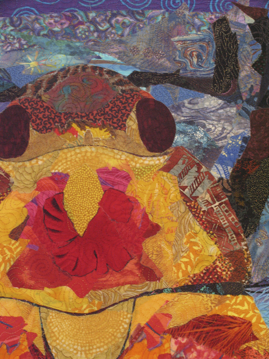 """Fire Beetle,"" a quilt made by Susan Carlson, is part of the ""Pioneers: Quilt Art"" exhibit on view through Oct. 1 at Maine Fiberarts in Topsham."