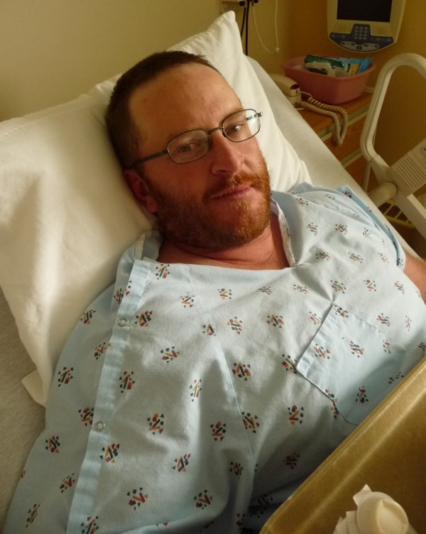 Paul &quotPudge&quot Lyndon McFalls, 39, of North Carolina, rested Thursday afternoon at Down East Community Hospital in Machias after he was bitten in the leg by a bear that he had shot and wounded earlier in the day at Marion Township. McFalls is expected to be hospitalized for several days with bites, gashes and scratches. The bear attacked McFalls and bit him as McFalls loaded his last bullet in his gun. &quotHe was shaking my leg like a dog with a bone,&quot McFalls said. &quotI used that last bullet to put him down. Then I started squealing like a little girl.&quot