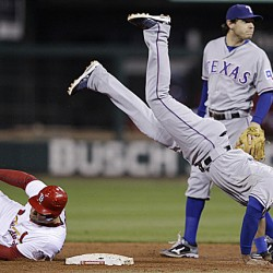 Rangers rally in ninth to even Series