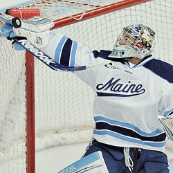 Goalie Sullivan, Mangene lift Maine hockey team by Providence