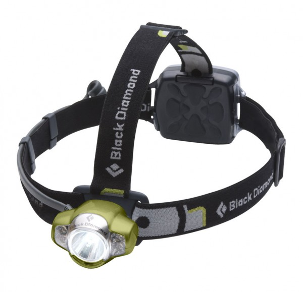Black Diamond Icon headlamp ($64.95, 100 lumens) has a less-bright setting that uses less battery power.