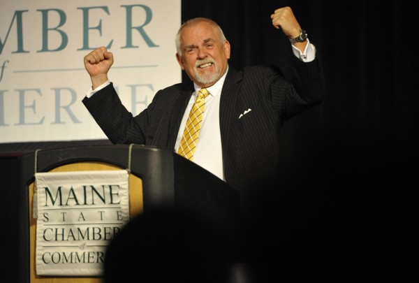 Actor and manufacturing supporter John Ratzenberger delivered a lively keynote address at the Maine State Chamber of Commerce's annual awards dinner at the Bangor Civic Center Wednesday evening, Oct. 26, 2011.