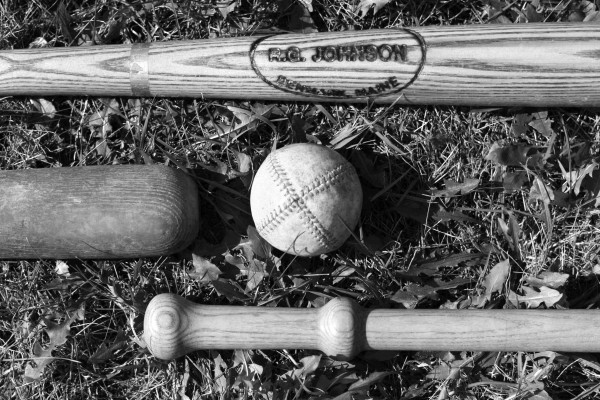 1860's-style bats and ball.