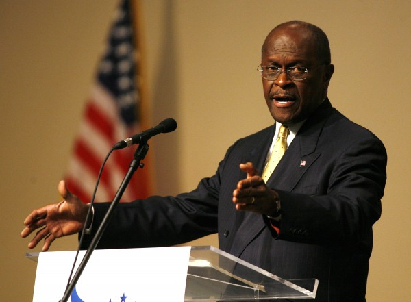Republican presidential candidate businessman Herman Cain speaks during a &quotFaith and Freedom&quot rally at Ohio Christian University on Thursday, October 13, 2011 in Circlevile, Ohio.