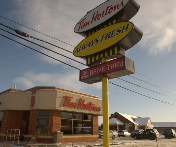 A Time Hortons restaurant is seen in Caribou in January 2005. The Canadian coffee and doughnut chain is hoping to brew up new business across Arab Gulf states.