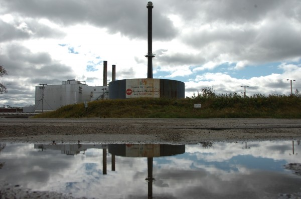 This shuttered paper mill in East Millinocket and the one in the Millinocket were purchased by New Hampshire investor Cate Street Capital earlier this month. Mill owners announced plans to hire another 225 workers and begin production there and in Millinocket as early as January 2013.