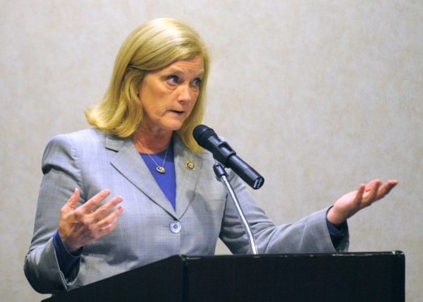 U.R. Rep. Chellie Pingree, D-Maine, speaks in Bangor recently.
