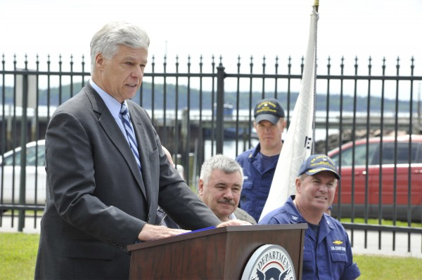 Rep. Mike Michaud, D-Maine, in Eastport recently.